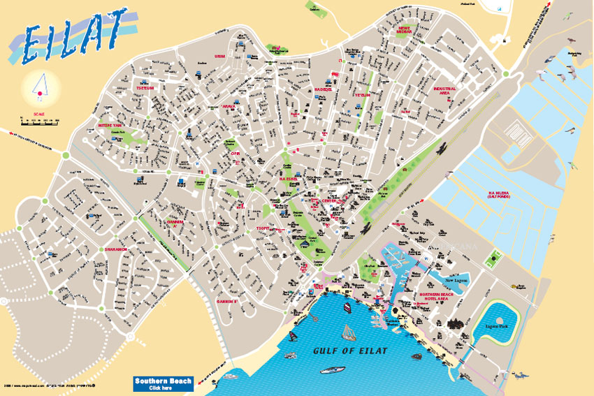Map of Eilat